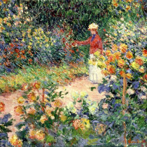 En El Jardín – (Claude Monet, 1895)