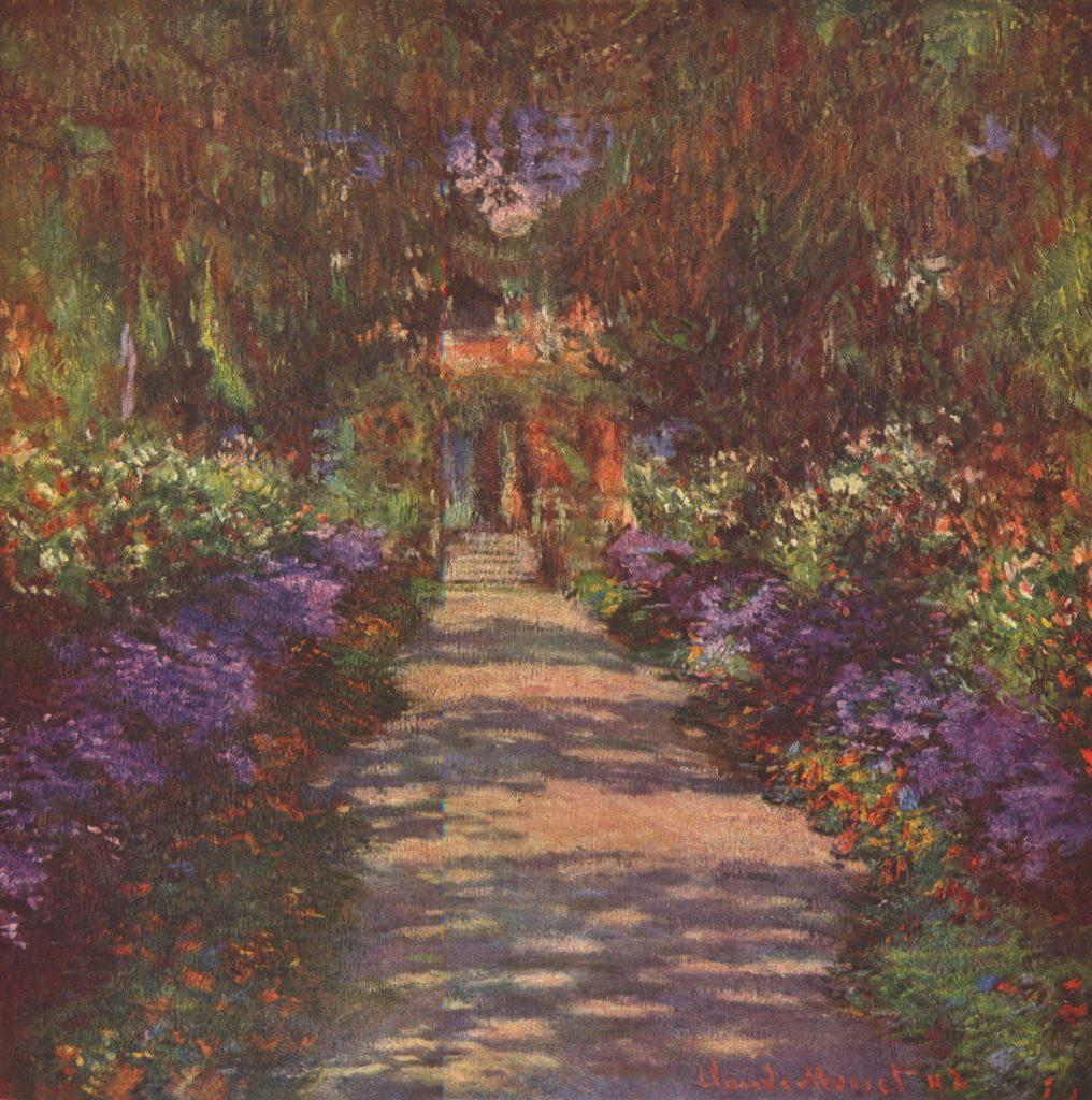 Sendero en el jardin del artista - (Claude Monet)