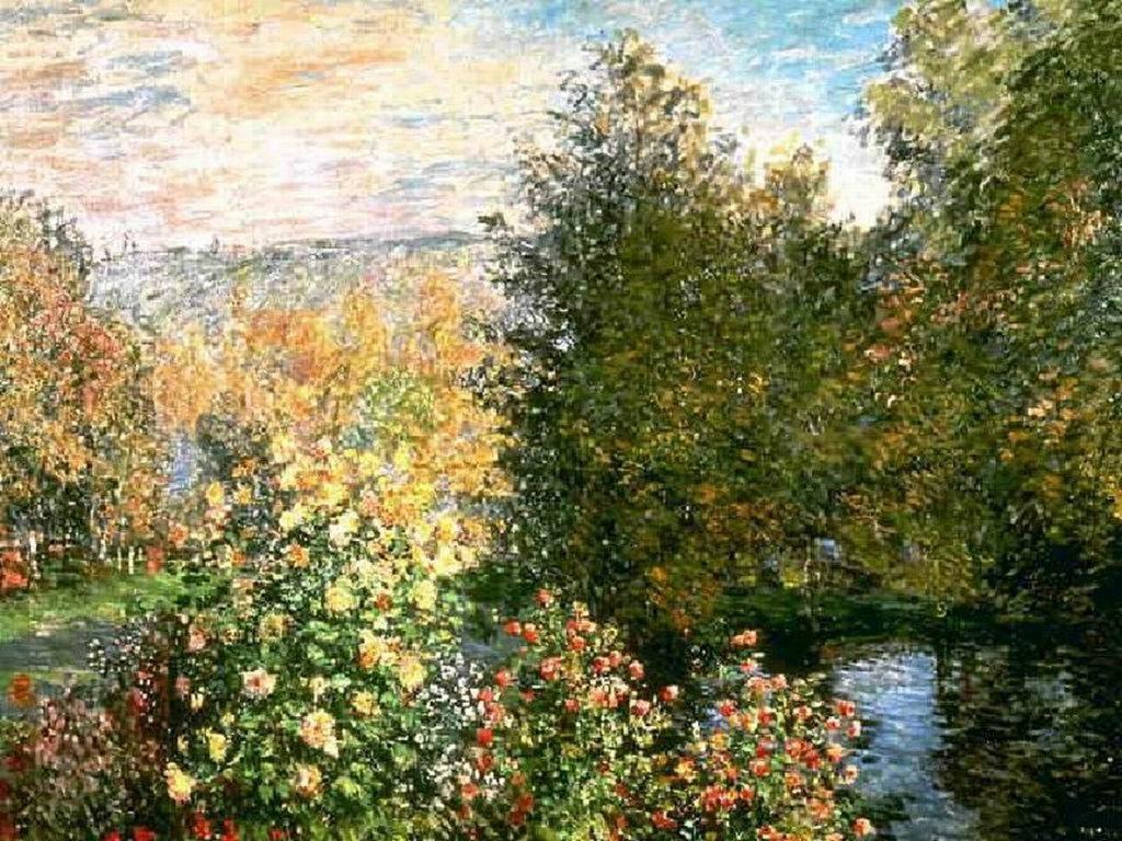 El jardín de Hoschedé en Montgeron - (Claude Monet, 1887)