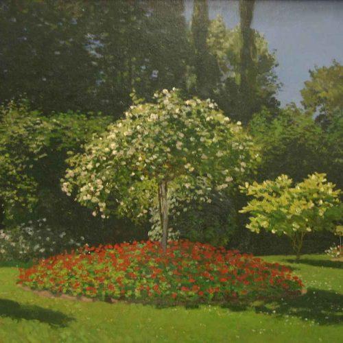 Dama En El Jardín De Sainte-Adresse - (Claude Monet)
