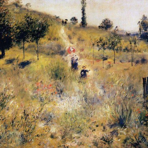 Paseando Por El Camino De Hierbas Altas - (Renoir, 1875)