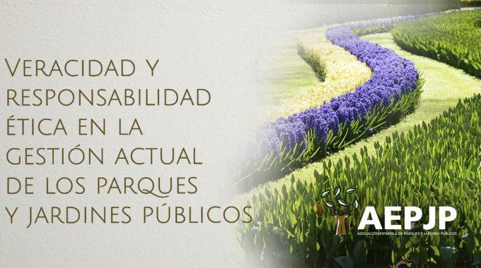 Portada Veraciday Responsabilidad ética Enla Gestión Actual De Los Parques Y Jardines Públicos