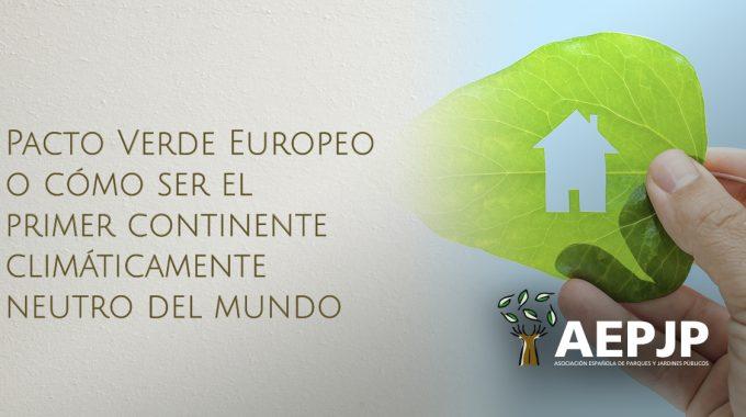 Portada Pacto Verde Europeo