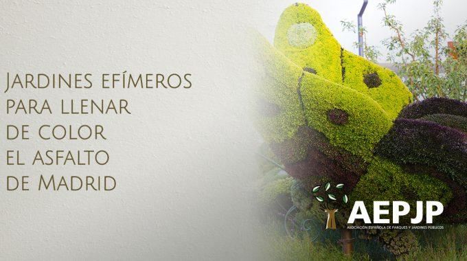Portada Jardines Efímeros Para Llenar De Color El Asfalto De Madrid